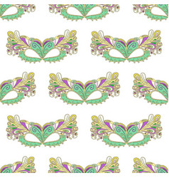 mardi gras carnival mask pattern vector image
