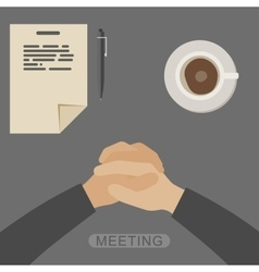 Meeting vector image