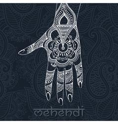 Mehendi hand vector image