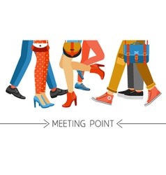Men and women legs and footwear vector