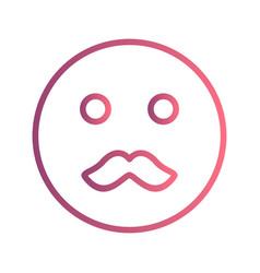 Moustache emoji icon vector