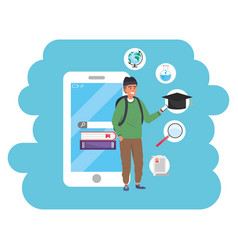 Online education millennial student vector