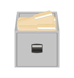 Opened card catalog vector image