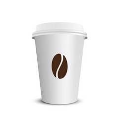 paper coffee cup vector image