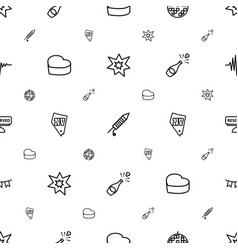 party icons pattern seamless white background vector image