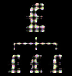Pound hierarchy halftone composition of dots vector