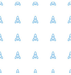 rocket icon pattern seamless white background vector image