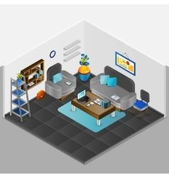 Room interior design vector