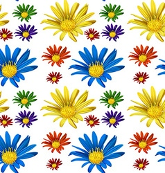 Seamless backgroun with colorful flowers vector
