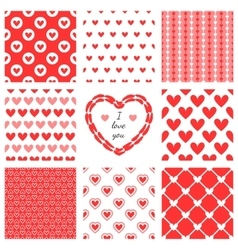 Set of hand-drawn textures heart shapes and vector