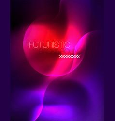 shiny metallic neon waves design vector image