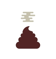 Simple stunk poo icon vector