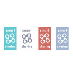 smart sharing economy logo peer to peer exchange vector image
