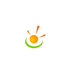Solar energy shine logo vector