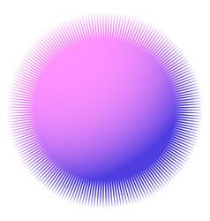 Starburst sunburst with thin radial lines vector