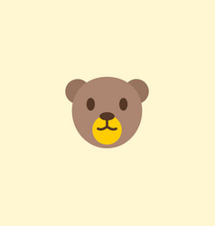 Teddy bear icon flat element vector