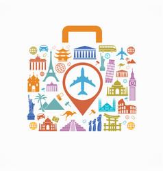 travel destinations vector image