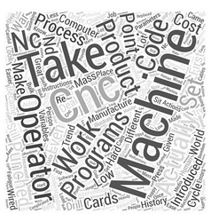 Understanding cnc word cloud concept vector