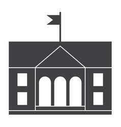 university building icon vector image