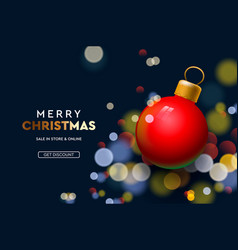 web page design template for christmas sale vector image