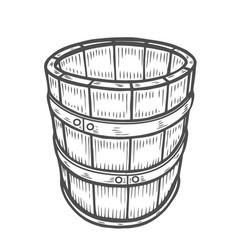 Wine or beer barrel isolated vector