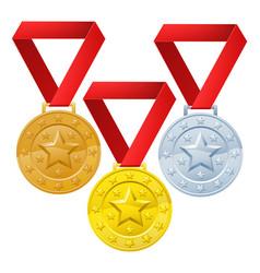Winners medals vector