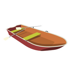 Boat flat icon and sign vector