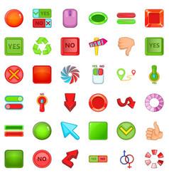 download arrow icons set cartoon style vector image