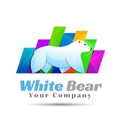 White Bear polar logo design Template for your vector image