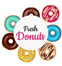 sweet donut advertising banner vector image vector image