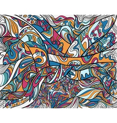 Abstract line art with coloring vector image vector image