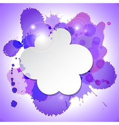 Abstract speech bubble cloud with blots and lights vector image
