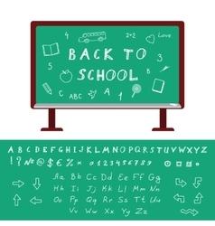 Back to School Alphabet vector image