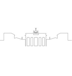 isolated berlin cityscape vector image vector image