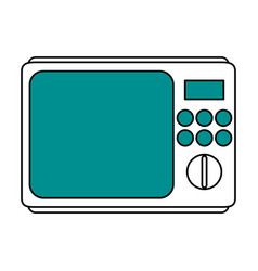 Microwave oven household electric appliance icon vector