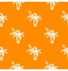 Palm trees seamless pattern vector image vector image