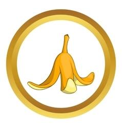 Banana peel icon vector