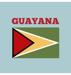 guayana country flag vector image