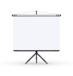 White board presentation conference meeting screen vector image vector image