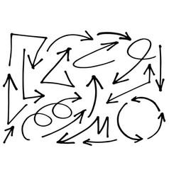0048 hand drawn arrows vector