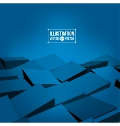 3D blocks background vector image