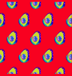 avocado abstract red seamless pattern print vector image