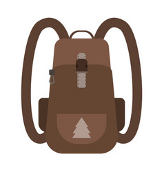Backpack map and compass for camping tourism vector