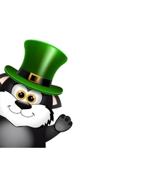 Black Cat in the Leprechaun hat Saint Patricks vector image