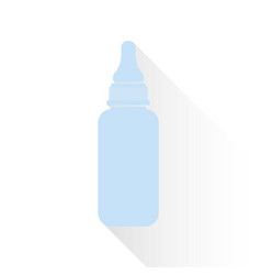 Blue bottle for a newborn in a flat style vector