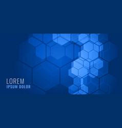 Blue hexagonal shape medical background concept vector