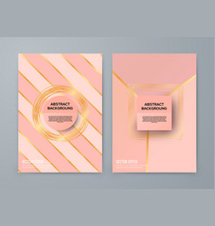 brochure template with rose goldbackground vector image