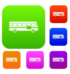 bus set collection vector image