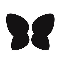 butterfly wings icon vector image
