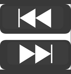 Button forward backward vector